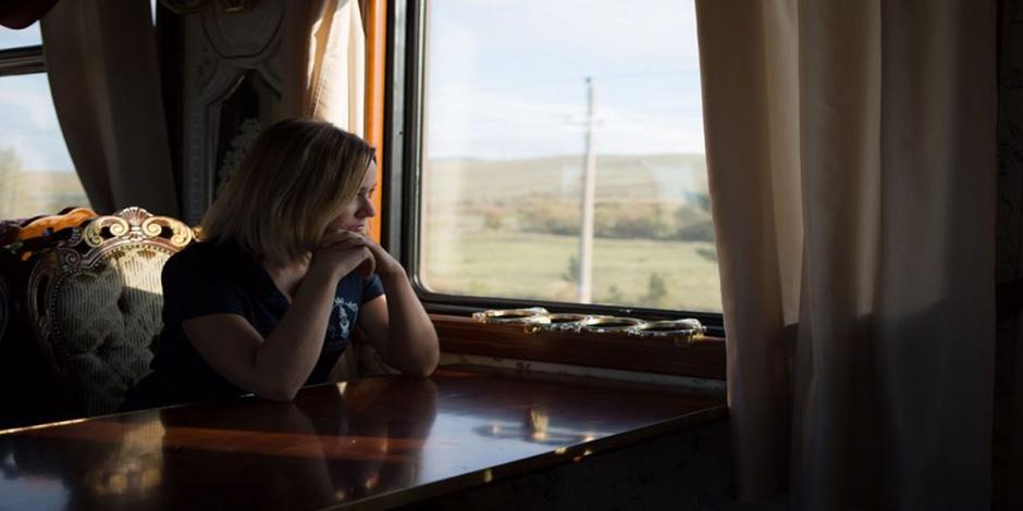 A la fenêtre à bord du Train Russie Impériale