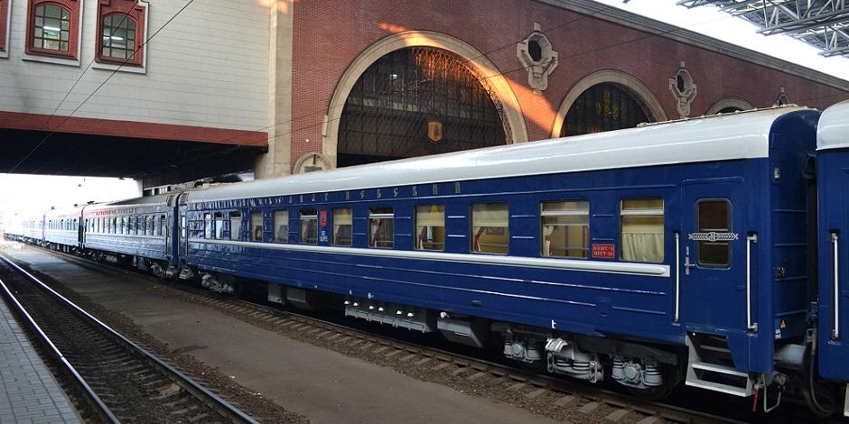 Train Russie Impériale à quai